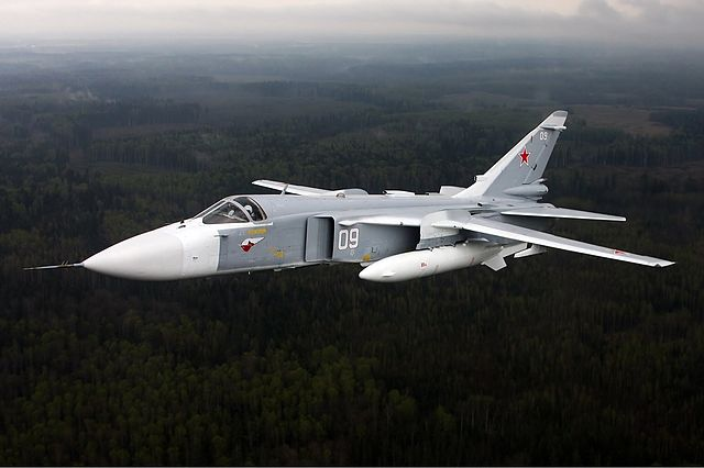A Russian Sukhoi SU-24 Fencer.