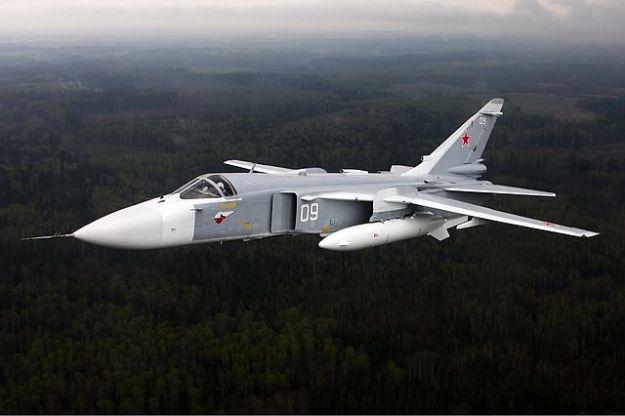 A Russian Sukhoi SU-24 Fencer.