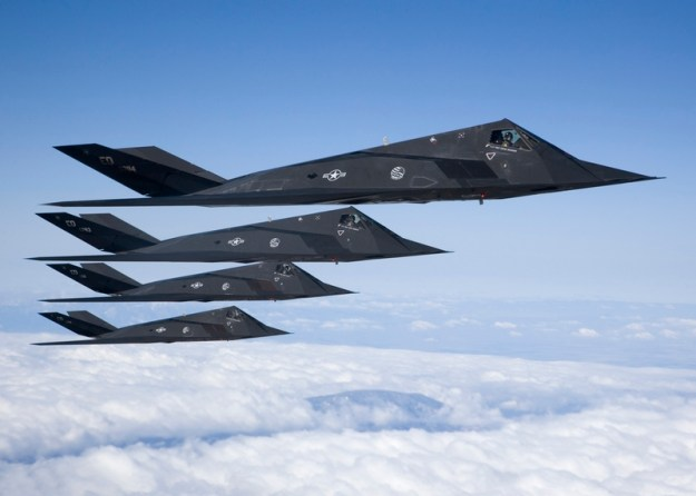 F-117s in formation