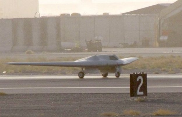 An image of the RQ-170 Sentinel in Afghanistan