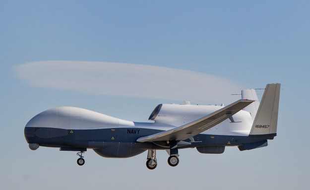 Triton unmanned aircraft system completes its first flight May 22, 2013. US Navy Photo