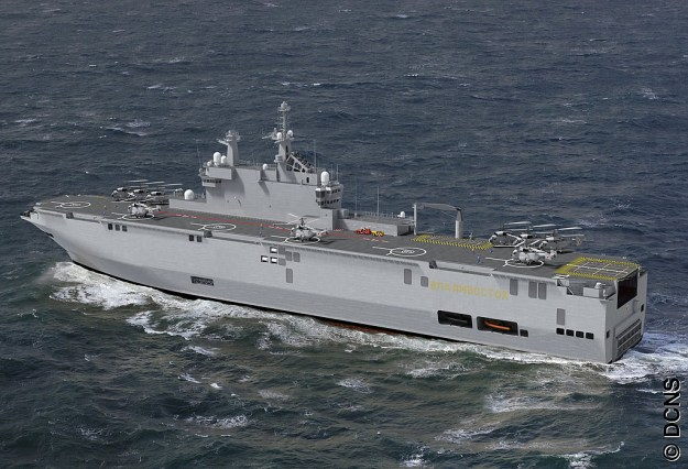 An artist's rendering of the future Russian Navy amphibious warship Vladivostok. DCNS Photo