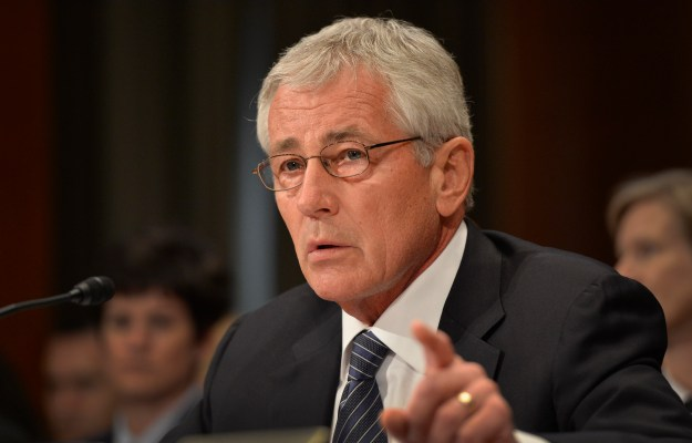 Secretary of Defense Chuck Hagel testifies before the Senate Appropriations Subcommittee on Defense about the Defense Department's FY15 budget request June 18, 2014. DoD Photo