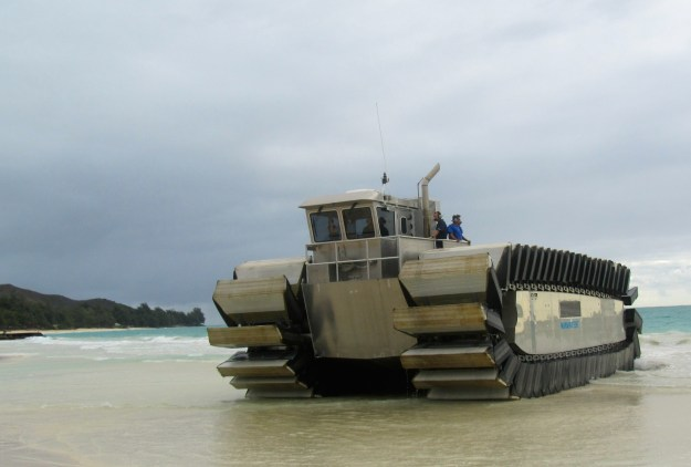 A prototype of the Marine Corps' Ultra Heavy-Lift Amphibious Connector (UHAC) on July 11. Kyle Mizokami Photo