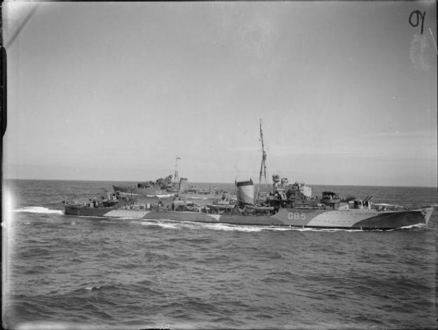 HMS Jupiter (F85) HMS Kashmir is in the background in 1940. Imperial War Museums Photo