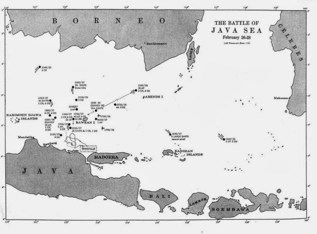 Map of the Battle of Java Sea. Naval History and Heritage Command Image