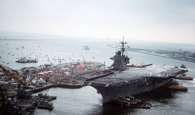 USS Saratoga returns from Operation Desert Storm. US Navy Photo