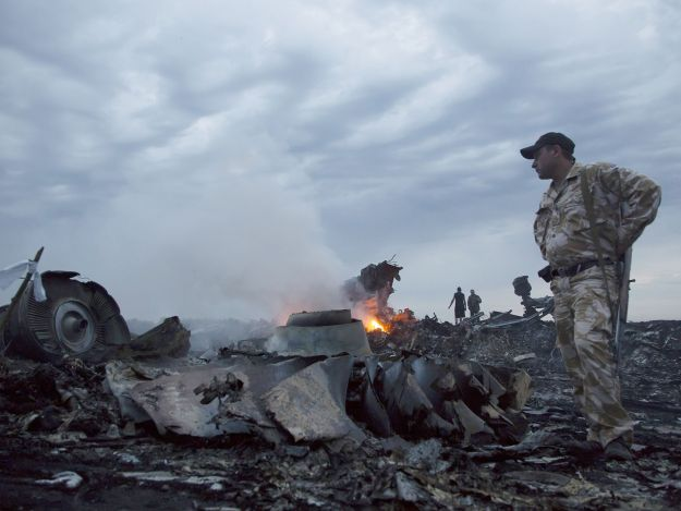 A July 18, picture of the Malaysian Airliners Flight 17 Crash site.