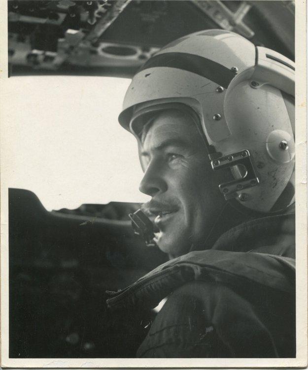 """Lt. j.g. Forest """"Zeke"""" Zetterberg in E-IB cockpit. Photo Courtesy Forrest Zetterberg"""