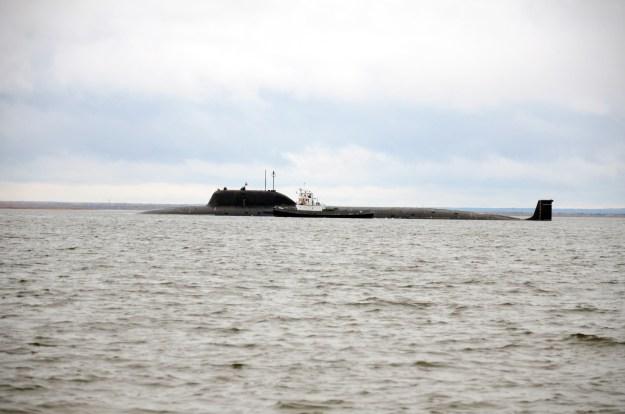 Yasen-class attack submarine.