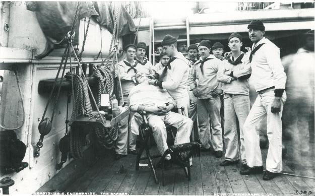 Barbershop onboard USS Enterprise