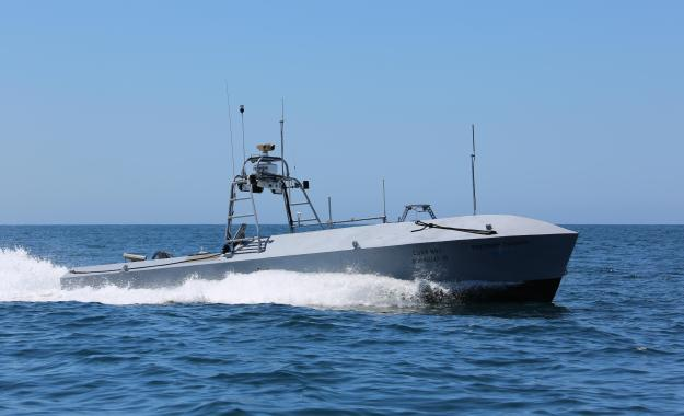 Textron Systems Unmanned Systems' Common Unmanned Surface Vessel (CUSV). Textron Photo