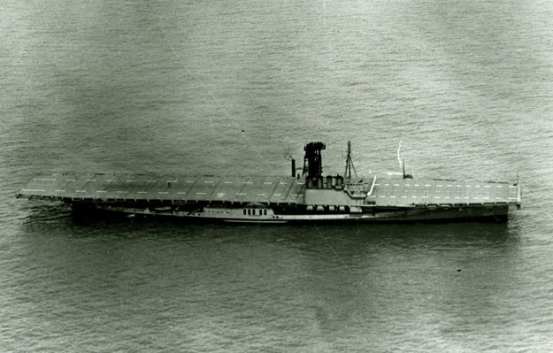 USS Wolverine in 1943 on Lake Michigan. US Navy Photo