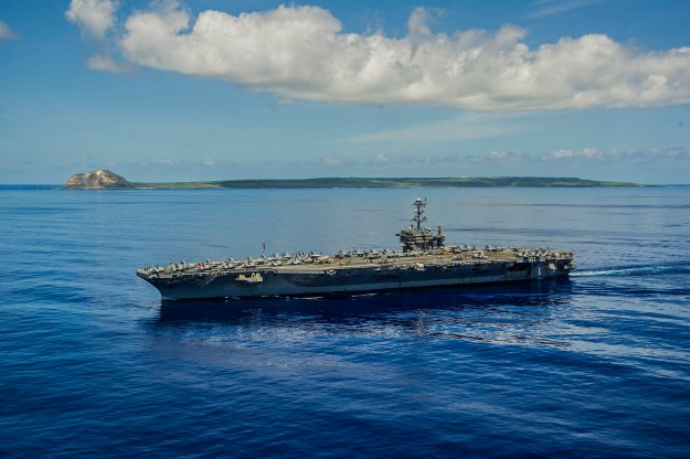 USS George Washington (CVN 73) is underway near the island of Iwo To, formerly known as Iwo Jima on Sept. 7, 2014. US Navy Photo