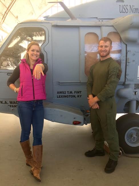 Jennifer Miller and her fiancé AWS2 Thomas Fint. Photo Courtesy Jennifer Miller