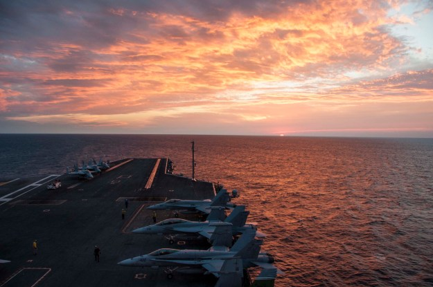Carrier Theodore Roosevelt Departs Norfolk for Middle East Deployment, New Homeport After Delay