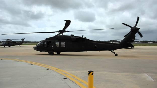 An undated photo of a Louisiana National Guard UH-60 Blackhawk from the 1-244 Aviation Regiment. Louisiana Guard Photo