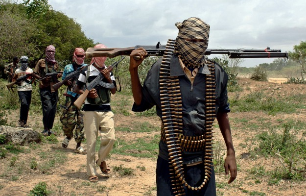 Members of the al Qaeda affiliated group al Shabab in Somalia in 2013
