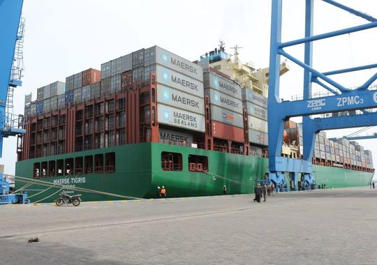 An undated photo of M/V Maersk Tigris. Damietta Port Authority via Defense News