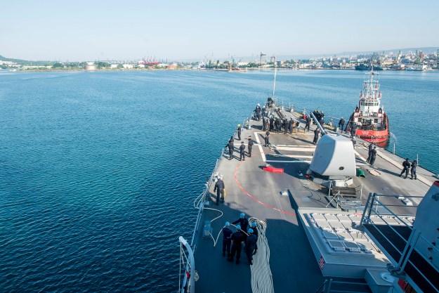 USS Porter (DDG-78) off the coast of Bulgaria on July 6, 2015. US Navy Photo