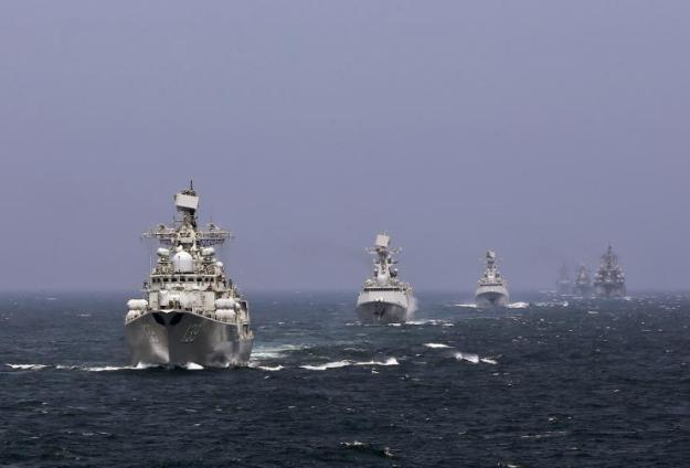 Russian and Chinese ships in the Pacific in 2014. China Daily Photo