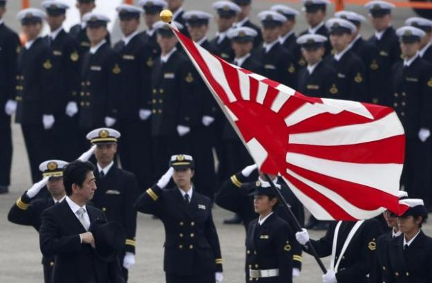 Japan's Prime Minister Shinzo Abe reviews members of Japan Self-Defense Force (JSDF) Oct. 26, 2014. Reuters Photo