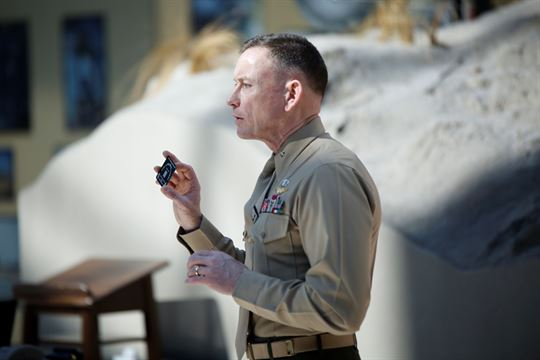 Then Brig. Gen. Frank Kelley, commander of Marine Corps Systems Command on Feb. 14, 2014. Kelley was named on Tuesday as the first deputy assistant secretary of the navy for unmanned systems. US Marine Corps Photo