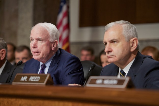 Sen. John McCain (R-Ariz.) and Sen. Jack Reed (D-R.I.)