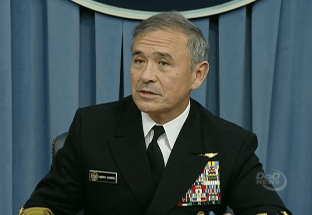 U.S. Pacific Command commander Adm. Harry Harris on Feb. 25, 2016 addressing reporters in the Pentagon. DoD News Image