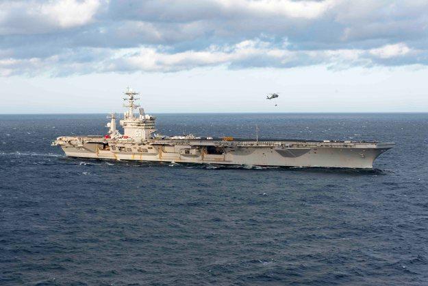 USS Dwight D. Eisenhower (CVN-69) on April 14, 2016. US Navy Photo