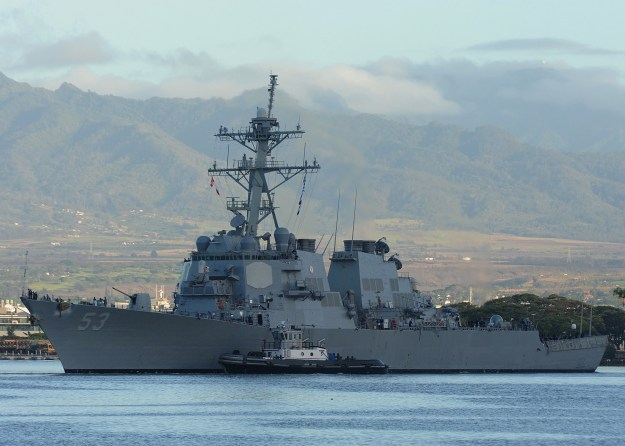 The guided-missile destroyer USS John Paul Jones (DDG-53) fired the anti-surface Standard Missile-6 Block I in January 2016, proving out the new weapon and its ability to integrate into the NIFC-CA architecture. US Navy photo.