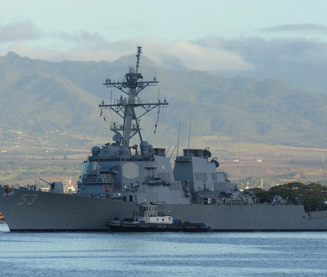 The Guided Missile Destroyer Uss John Paul Jones Ddg 53 Fired The