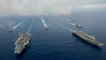 UPDATED: Stennis, Reagan CSGs Conduct Dual-Carrier Operations In Philippine Sea