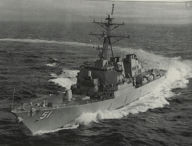 USS Arleigh Burke (DDG-51) in 1991. US Navy Photo