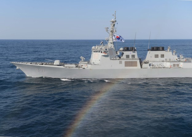 Republic of Korea navy destroyer Sejong the Great (DDG-991) underway on March 12, 2016. US Navy Photo