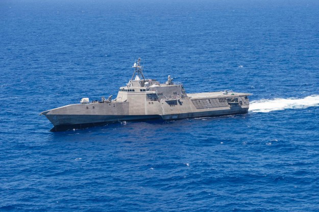 USS Coronado (LCS-4) conducts operations during Rim of the Pacific (RIMPAC) 2016 in July. US Navy Photo