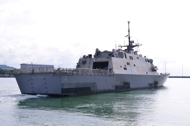 VIDEO: After Successful Repair USS Fort Worth Leaves Singapore for San Diego