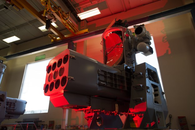 A SeaRAM launcher at the Raytheon Louisville, Ky. plant. Raytheon Photo
