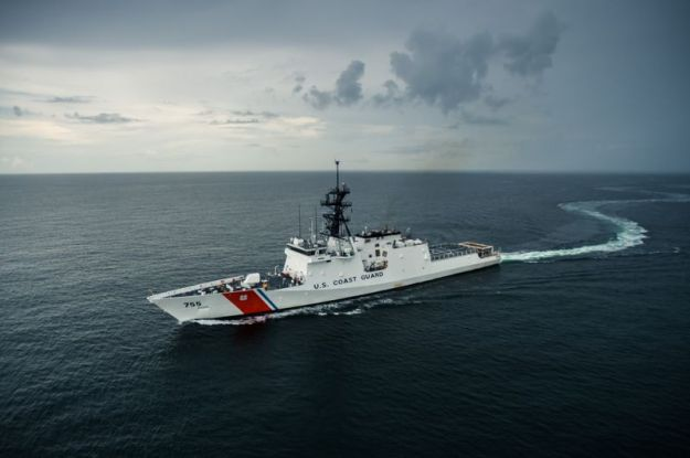 National Security Cutter Munro completed builder's sea trials in August. HII Photo