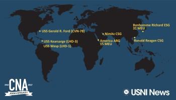 USNI News Fleet And Marine Tracker Sept - Map of us fleet deployment