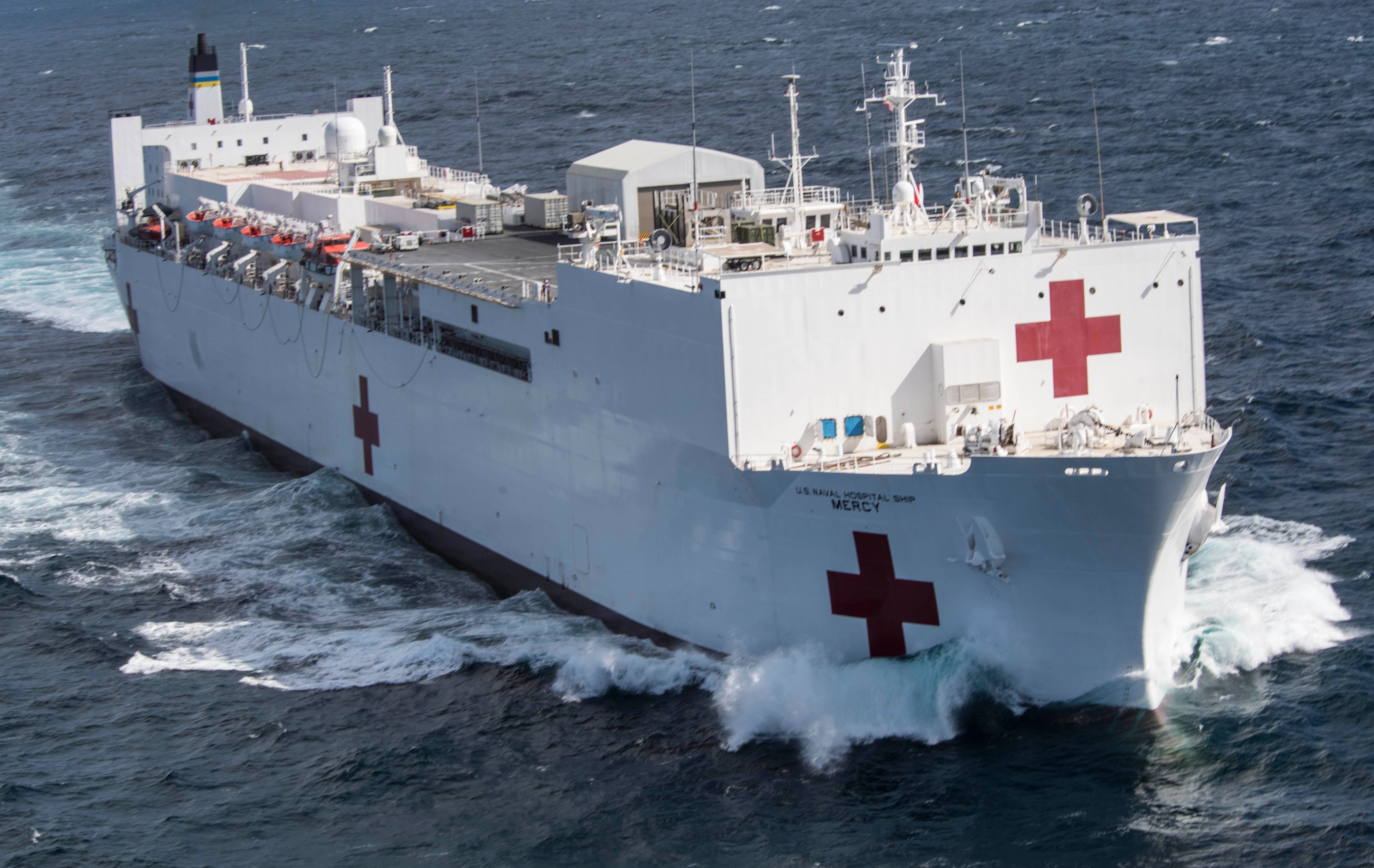 UPDATED: Pentagon Preparing Navy Hospital Ships Mercy, Comfort for ...