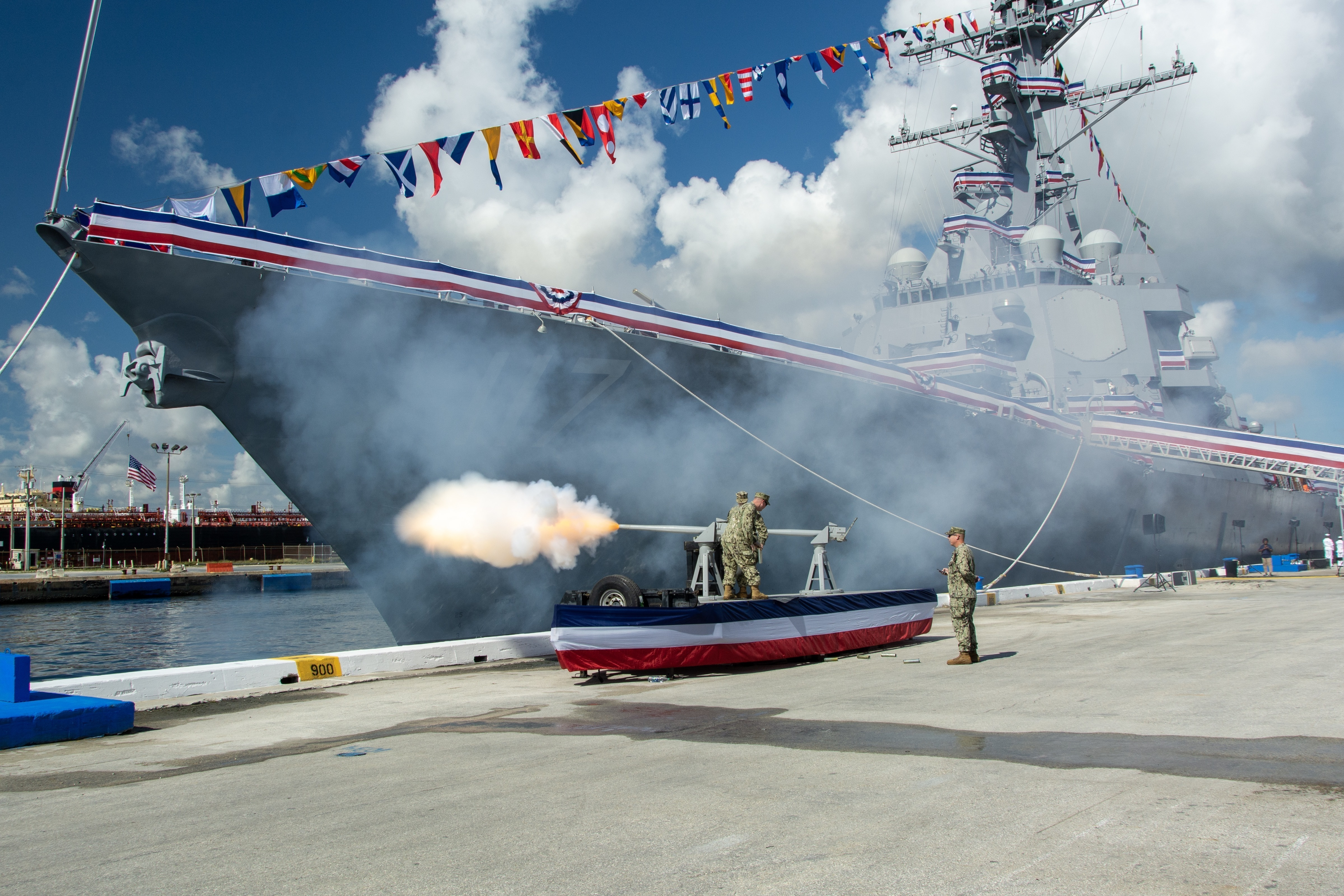 navy commissions destroyer uss
