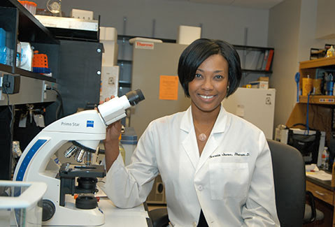 The University of Tennessee Health Science Center's Terreia Jones, PharmD, received a grant to research how drugs used to treat glioblastoma change tumor cells.