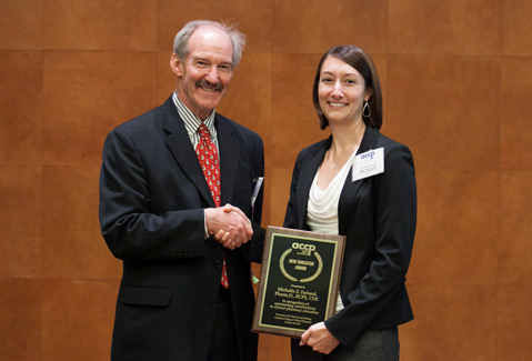 Associate Professor Michelle Farland Receives 2012 New Educator Award from American College of Clinical Pharmacy.