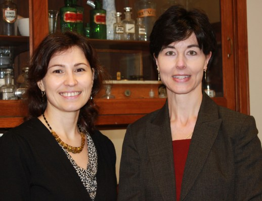 Elvira Gosmanova, MD, left, and Joanna Q. Hudson, PharmD, will use a $140,000 grant from the Oxnard Foundation to study antibiotic dosing for patients undergoing Sustained Low Efficiency Dialysis.