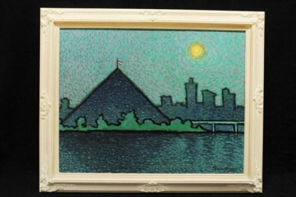 Blue Bridge and Pyramid