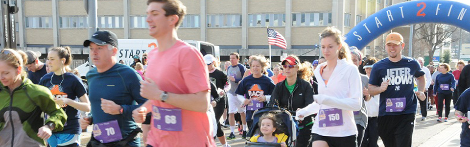 Race for the Summitt participants pound the pavement in the fight against Alzheimer's disease.