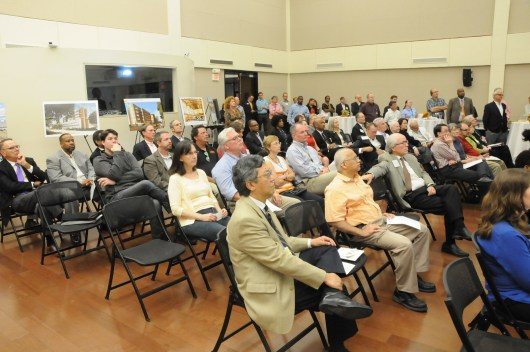 More than 75 people attended the Campus Master Plan Open House.