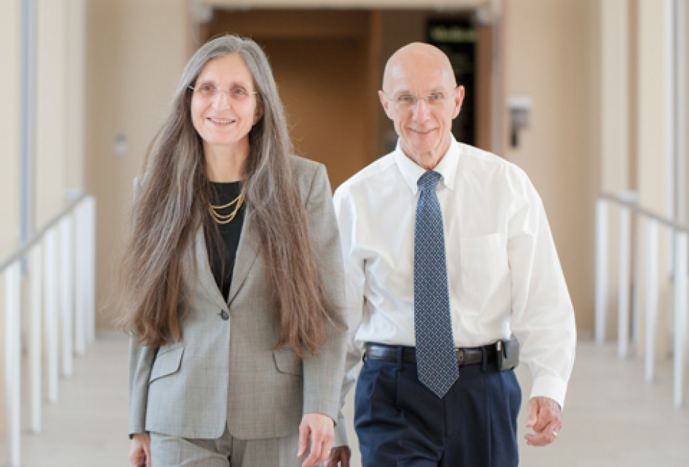 Dr. Ralph Lydic's research grant from the NIH, in the amount of $327,340, will allow him (right), his collaborator, Dr. Helen Baghdoyan (left) and their research team to study how the brain regulates various states of consciousness such as sleep, anesthesia, and pain.