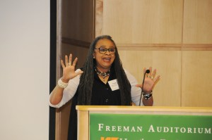 Freida Outlaw, PhD, tells students mentors can come from all walks of life.